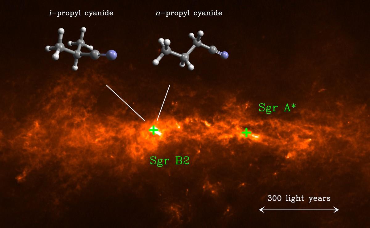 lehen-molekula-adarkatua-izarrarteko-espazioan